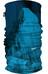 HAD Printed sjaal blauw/turquoise